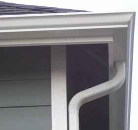 Properly installed gutter
