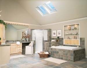 Vented skylights in the bathroom
